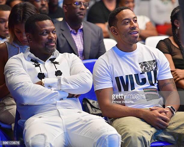Chris Tucker and Ludacris attend Celebrating 25 years Boyz N The Hood on August 23 2016 in Atlanta Georgia