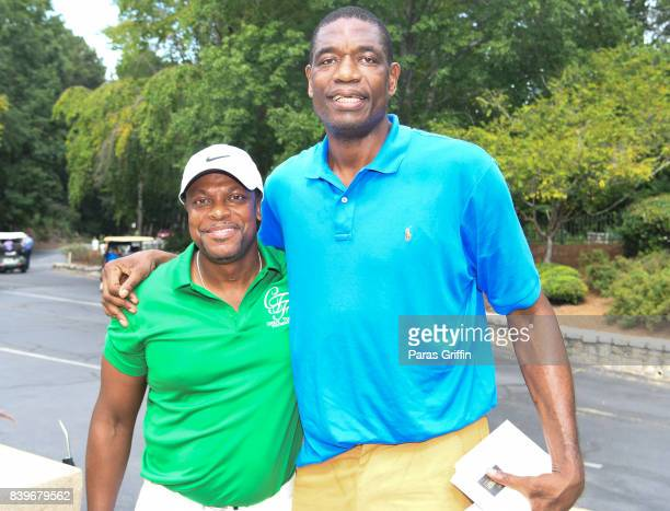Chris Tucker and retired NBA player Dikembe Mutumbo at Chris Tucker Foundation Celebrity Golf Tournament at Stone Mountain Golf Club on August 26...