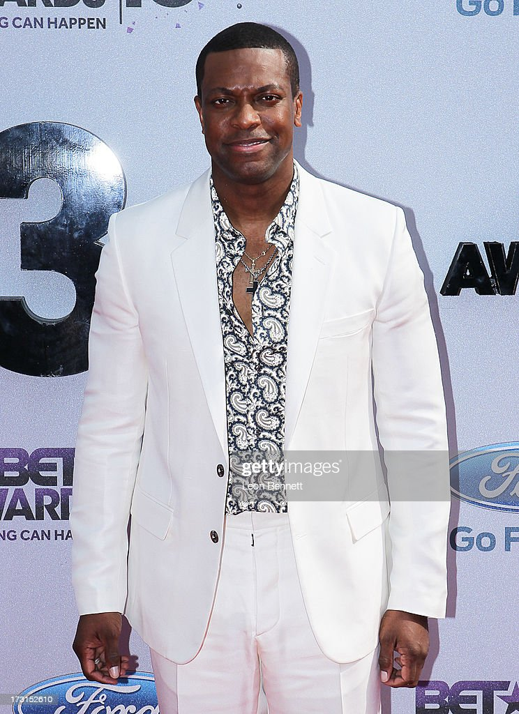 <a gi-track='captionPersonalityLinkClicked' href=/galleries/search?phrase=Chris+Tucker&family=editorial&specificpeople=203254 ng-click='$event.stopPropagation()'>Chris Tucker</a> arrives at the 2013 BET Awards Make A Wish Arrivals at Nokia Plaza L.A. LIVE on June 30, 2013 in Los Angeles, California.