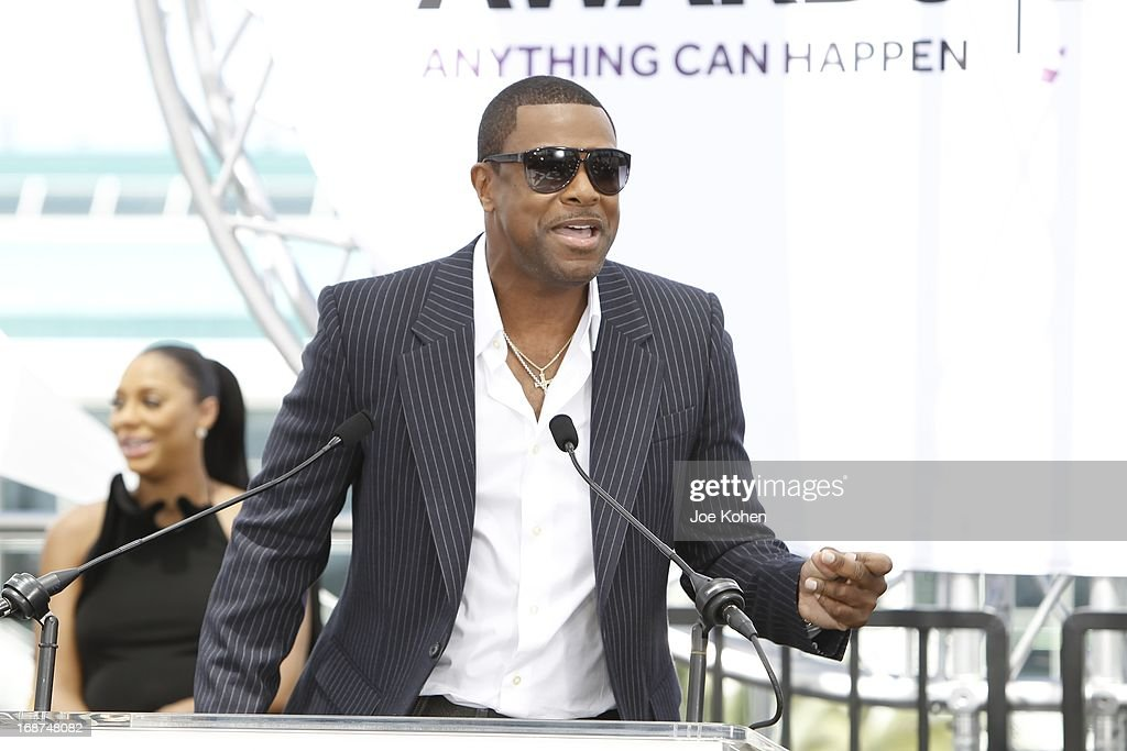 <a gi-track='captionPersonalityLinkClicked' href=/galleries/search?phrase=Chris+Tucker&family=editorial&specificpeople=203254 ng-click='$event.stopPropagation()'>Chris Tucker</a> attends the BET Experience At L.A. Live Press Conference at Icon Ultra Lounge on May 14, 2013 in Los Angeles, California.
