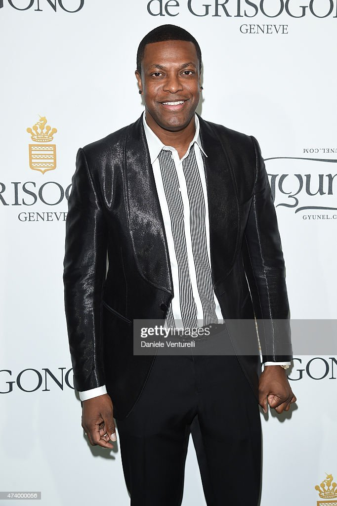 <a gi-track='captionPersonalityLinkClicked' href=/galleries/search?phrase=Chris+Tucker&family=editorial&specificpeople=203254 ng-click='$event.stopPropagation()'>Chris Tucker</a> attends the De Grisogono party during the 68th annual Cannes Film Festival on May 19, 2015 in Cap d'Antibes, France.