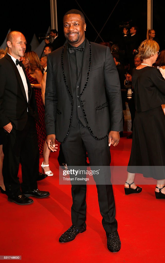 <a gi-track='captionPersonalityLinkClicked' href=/galleries/search?phrase=Chris+Tucker&family=editorial&specificpeople=203254 ng-click='$event.stopPropagation()'>Chris Tucker</a> attends the 'Hands Of Stone' premiere during the 69th annual Cannes Film Festival at the Palais des Festivals on May 16, 2016 in Cannes, France.