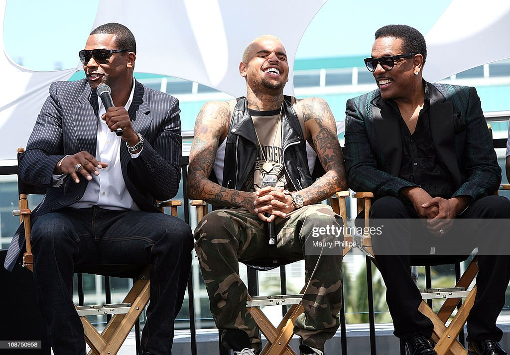 <a gi-track='captionPersonalityLinkClicked' href=/galleries/search?phrase=Chris+Tucker&family=editorial&specificpeople=203254 ng-click='$event.stopPropagation()'>Chris Tucker</a>, Chris Brown and Charlie Wilson attend the BET Awards 2013 Press Conference at Icon Ultra Lounge on May 14, 2013 in Los Angeles, California.