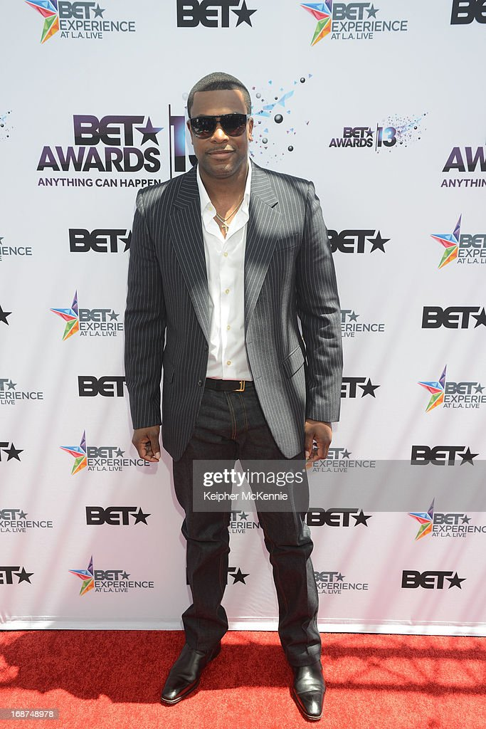 <a gi-track='captionPersonalityLinkClicked' href=/galleries/search?phrase=Chris+Tucker&family=editorial&specificpeople=203254 ng-click='$event.stopPropagation()'>Chris Tucker</a> on the red carpet at the 2013 BET Awards press conference at Icon Ultra Lounge on May 14, 2013 in Los Angeles, California.
