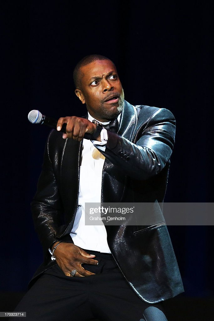 <a gi-track='captionPersonalityLinkClicked' href=/galleries/search?phrase=Chris+Tucker&family=editorial&specificpeople=203254 ng-click='$event.stopPropagation()'>Chris Tucker</a> performs on stage at the Plenary on June 11, 2013 in Melbourne, Australia.