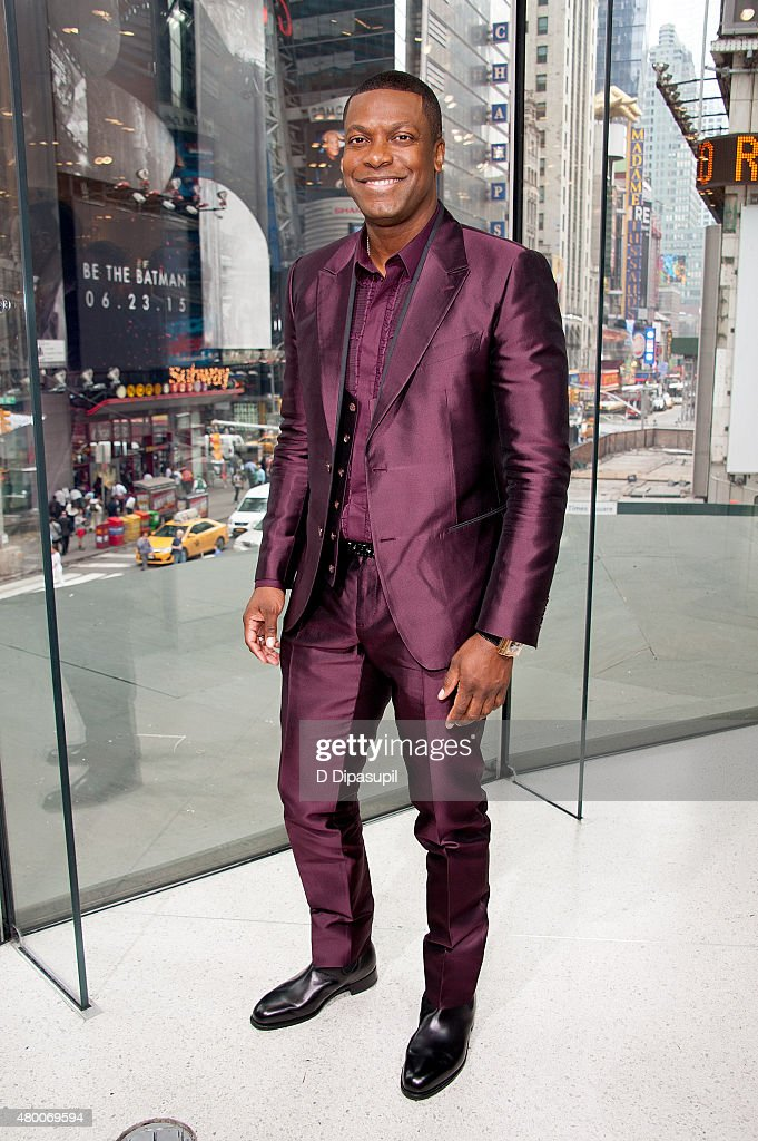 <a gi-track='captionPersonalityLinkClicked' href=/galleries/search?phrase=Chris+Tucker&family=editorial&specificpeople=203254 ng-click='$event.stopPropagation()'>Chris Tucker</a> visits 'Extra' at their New York studios at H&M in Times Square on July 9, 2015 in New York City.