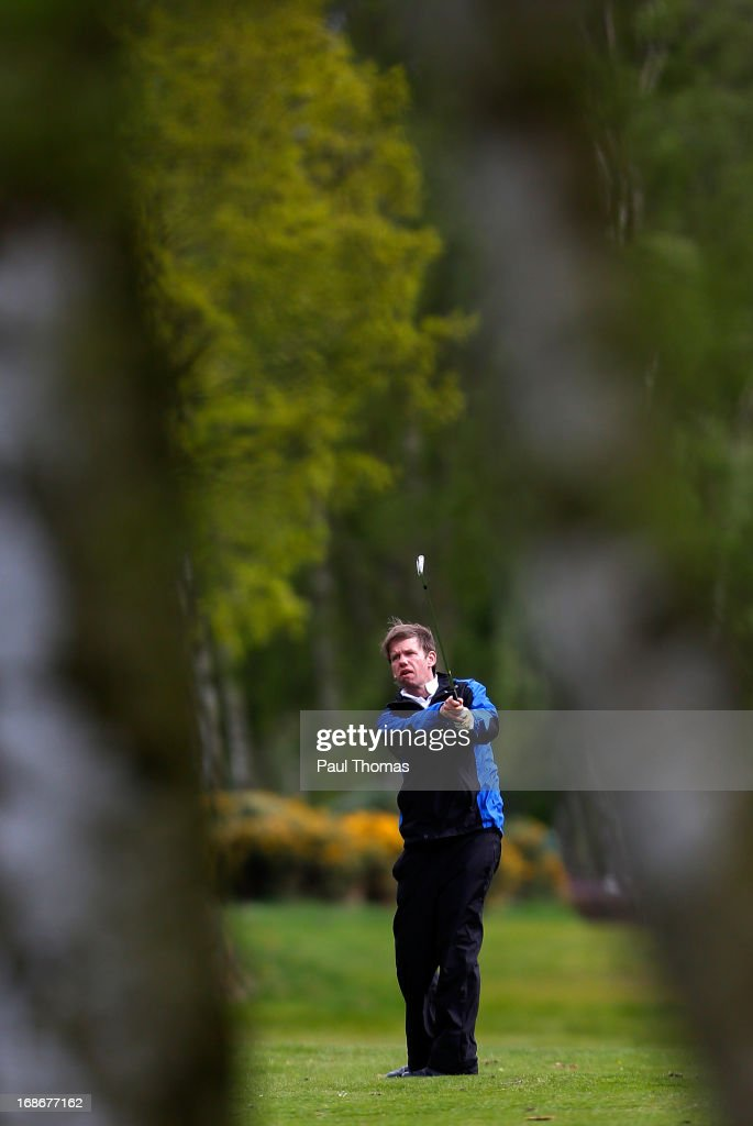 Chris Tyson of Eleven Arches Golf Club plays a stroke on the 17th hole during the Glenmuir PGA Professional Championship North East Regional Qualifier at Fulford Golf Club on May 13, 2013 in York, England.