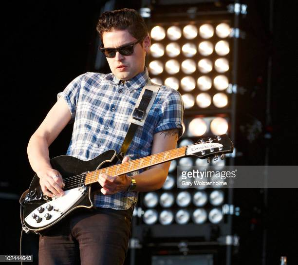 Chris Urbanowicz of Editors performs on stage on the third day of Glastonbury Festival at Worthy Farm on June 26 2010 in Glastonbury England