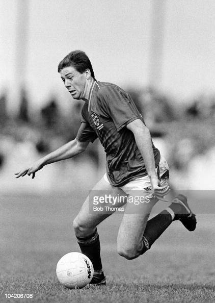 Chris Waddle of England in action against Aylesbury United during a friendly match held at Bell Close Aylesbury on 4th June 1988 England beat...