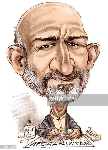 caricature hamid karzai