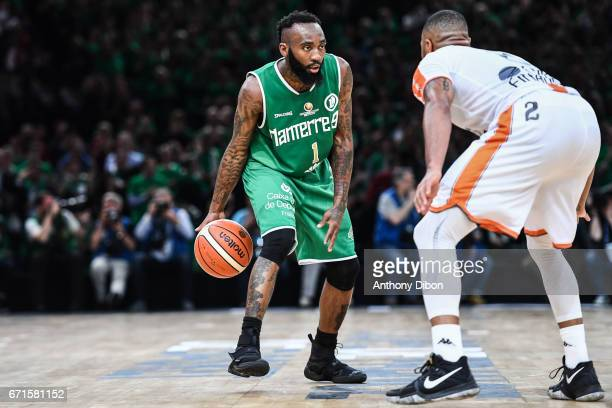 Chris Warren of Nanterre during the Final of the French Cup between Le Mans and JSF Nanterre at AccorHotels Arena on April 22 2017 in Paris France