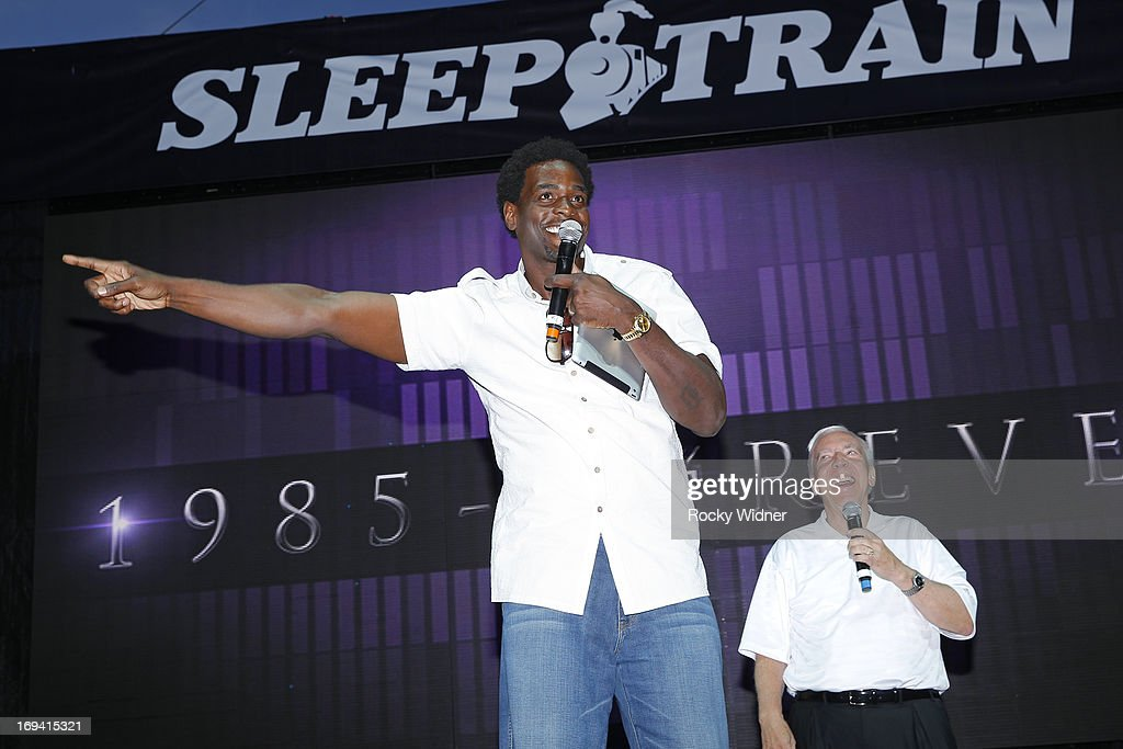 Chris Webber addresses the crowd at the Kings Rally on May 23, 2013 in Sacramento, California.