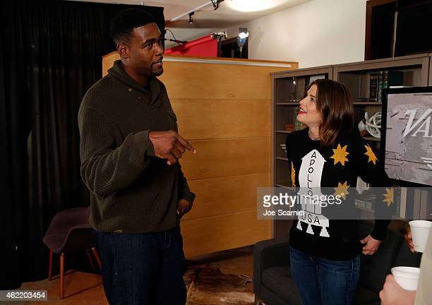 Chris Webber and Cobie Smulders attend The Variety Studio At Sundance Presented By Dockers on January 25 2015 in Park City Utah