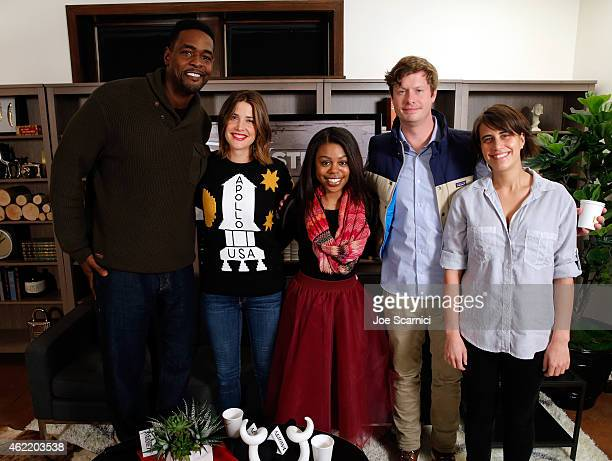 Chris Webber Cobie Smulders Gail Bean Anders Holm and Kris Swanberg attend The Variety Studio At Sundance Presented By Dockers on January 25 2015 in...