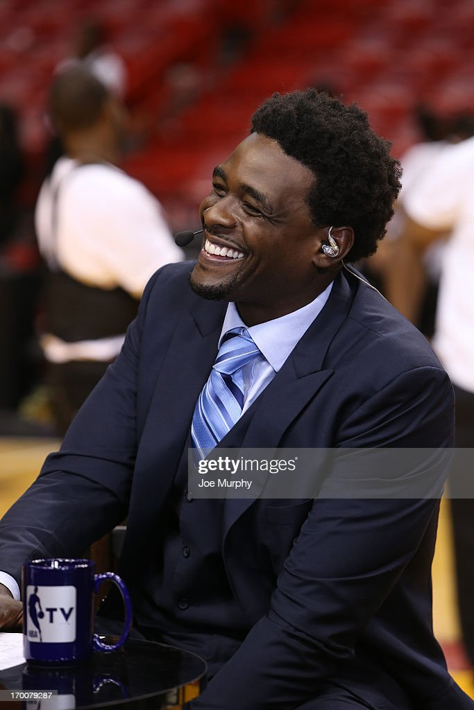 Chris Webber of NBATV discusses Game One of the 2013 NBA Finals on June 6, 2013 at American Airlines Arena in Miami, Florida.