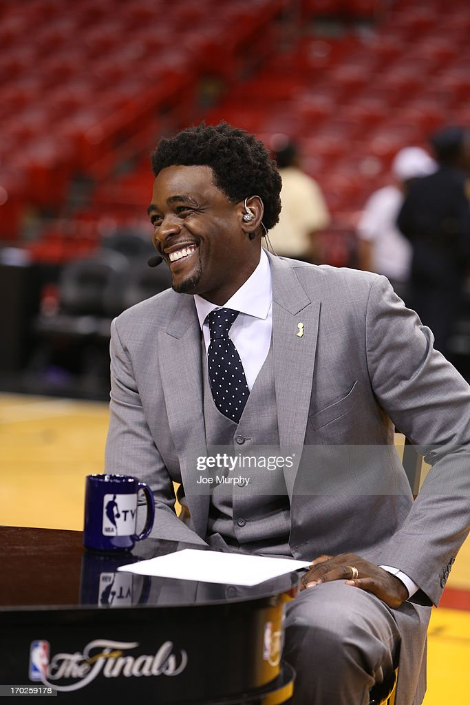 Chris Webber of NBATV discusses the game of the Miami Heat against the San Antonio Spurs after Game Two of the 2013 NBA Finals on June 9, 2013 at American Airlines Arena in Miami, Florida.