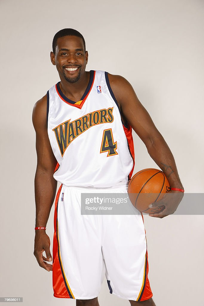Chris Webber #4 of the Golden State Warriors poses for a portrait on February 07, 2008 at Oracle Arena in Oakland, California.