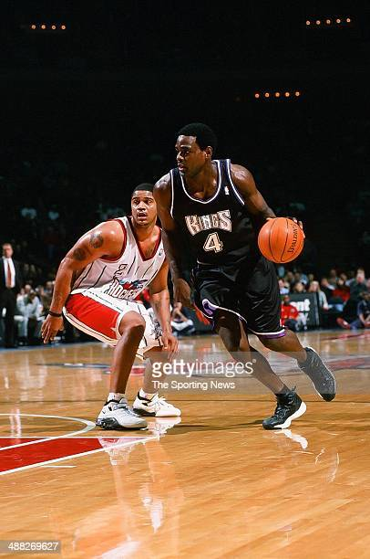 Chris Webber of the Sacramento Kings during the game against the Houston Rockets on January 13 2001 at Compaq Center in Houston Texas