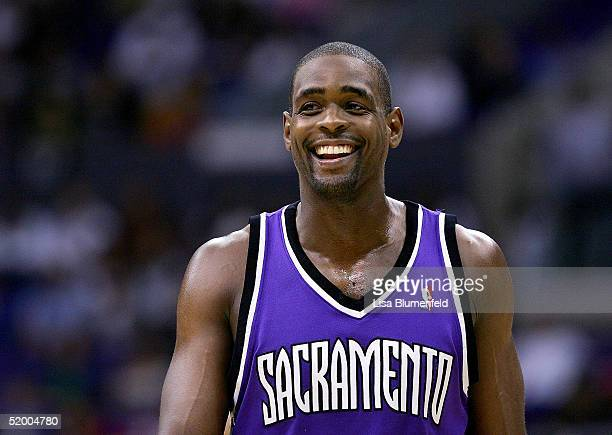 Chris Webber of the Sacramento Kings reacts during the game against the Los Angeles Clippers on January 17 2005 at Staples Center in Los Angeles...