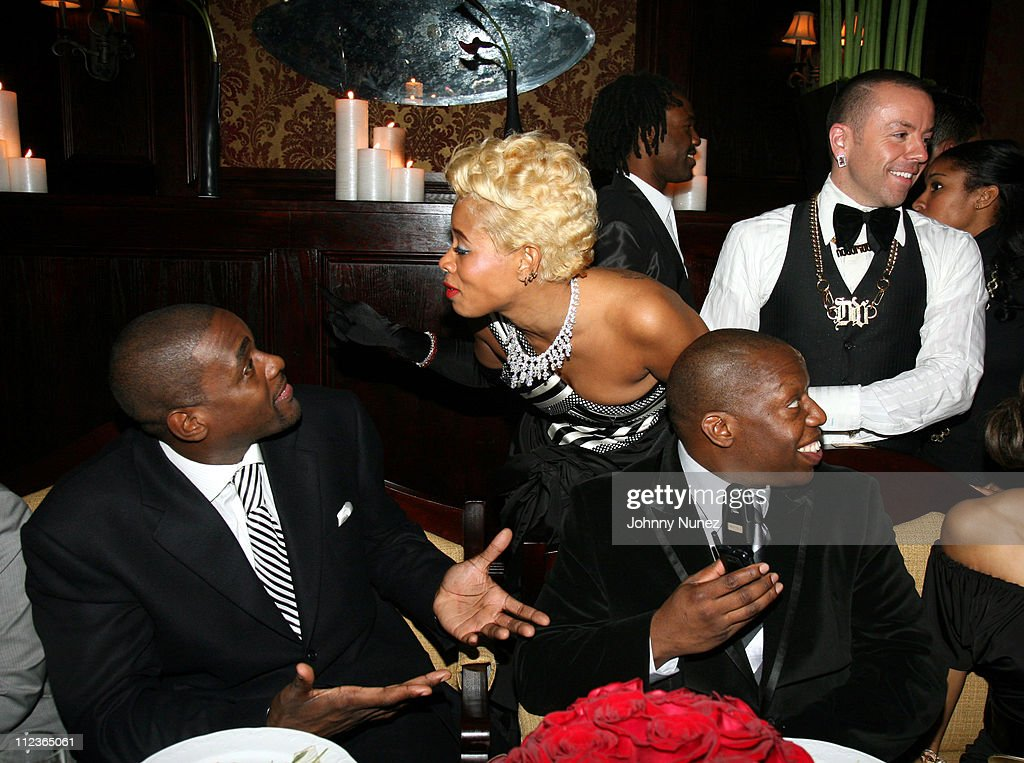 Chris Weber and <a gi-track='captionPersonalityLinkClicked' href=/galleries/search?phrase=Kelis&family=editorial&specificpeople=203061 ng-click='$event.stopPropagation()'>Kelis</a> during Hennessy Paradis Private Dinner for Nas' Album 'Hip Hop is Dead' at Gin Lane in New York City, New York, United States.