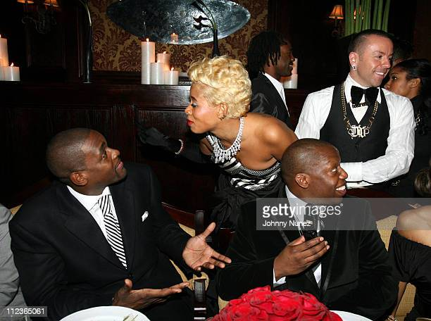 Chris Weber and Kelis during Hennessy Paradis Private Dinner for Nas' Album 'Hip Hop is Dead' at Gin Lane in New York City New York United States