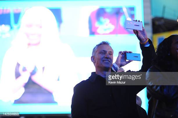 Chris Weber President of Nokia attend as Times Square was brought to a standstill on April 6 2012 as Nicki Minaj teamed up with Nokia to perform live...
