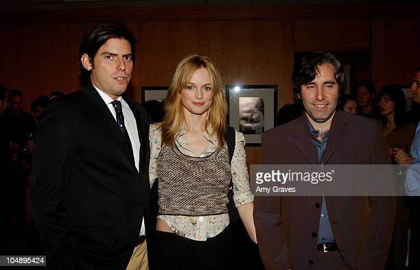 Chris Weitz Heather Graham and Paul Weitz during The Jack Oakie Lecture on Comedy in Film Featuring Paul and Chris Weitz at Academy of Motion Picture...