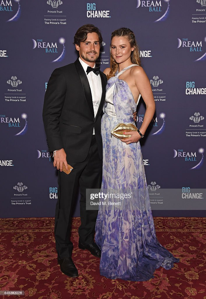 Chris Whitlock and Amber Atherton attend The Dream Ball in aid of The Prince's Trust and Big Change at Lancaster House on July 7 2016 in London...