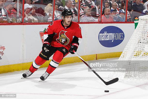 Chris Wideman of the Ottawa Senators against the Toronto Maple Leafs at Canadian Tire Centre on October 12 2016 in Ottawa Ontario Canada