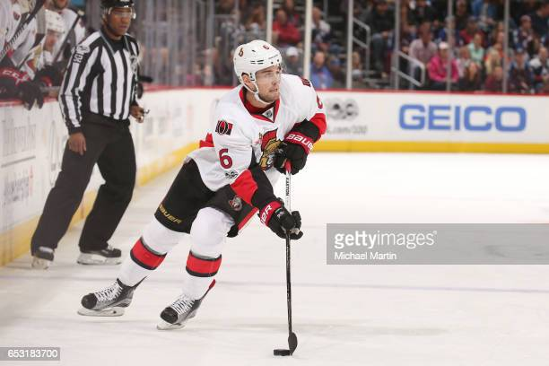 Chris Wideman of the Ottawa Senators skates against the Colorado Avalanche at the Pepsi Center on March 11 2017 in Denver Colorado The Senators...