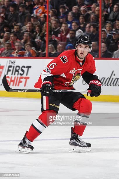 Chris Wideman of the Ottawa Senators skates against the Edmonton Oilers at Canadian Tire Centre on January 8 2017 in Ottawa Ontario Canada
