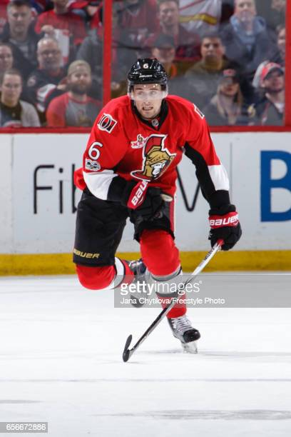 Chris Wideman of the Ottawa Senators skates against the Montreal Canadiens at Canadian Tire Centre on March 18 2017 in Ottawa Ontario Canada