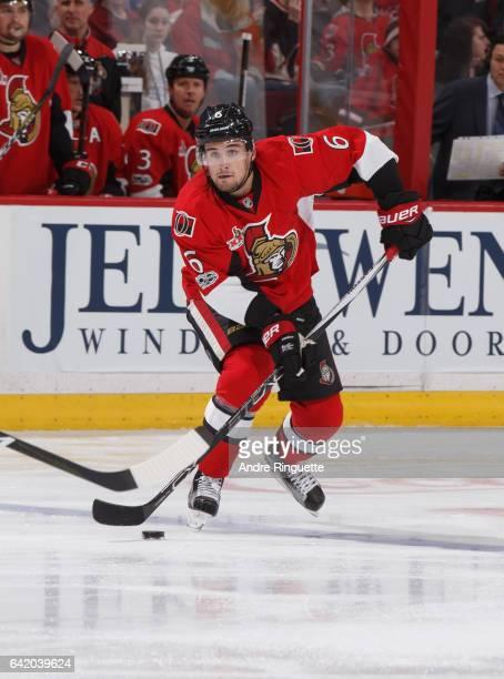 Chris Wideman of the Ottawa Senators skates against the New York Islanders at Canadian Tire Centre on February 11 2017 in Ottawa Ontario Canada