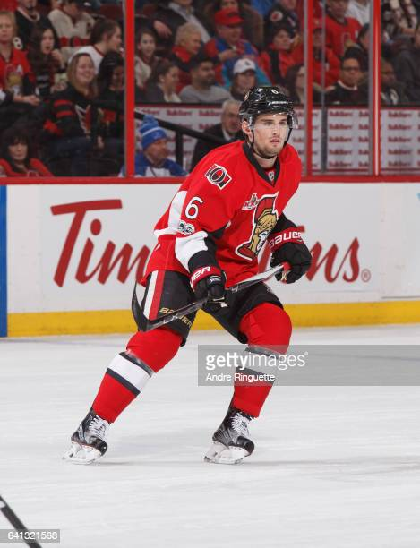 Chris Wideman of the Ottawa Senators skates against the St Louis Blues at Canadian Tire Centre on February 7 2017 in Ottawa Ontario Canada