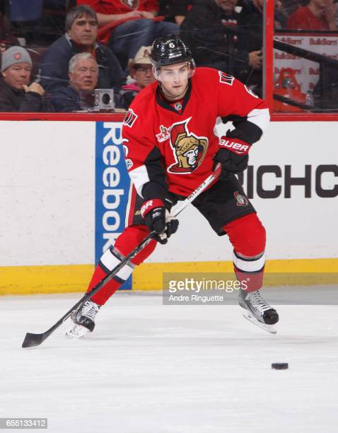 Chris Wideman of the Ottawa Senators skates against the Tampa Bay Lightning at Canadian Tire Centre on March 14 2017 in Ottawa Ontario Canada