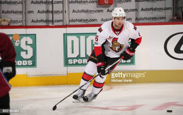 Chris Wideman of the Ottawa Senators skates prior to the game against the Colorado Avalanche at the Pepsi Center on March 11 2017 in Denver Colorado...