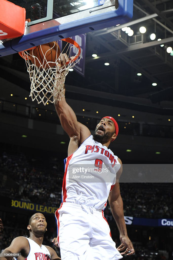 <a gi-track='captionPersonalityLinkClicked' href=/galleries/search?phrase=Chris+Wilcox&family=editorial&specificpeople=202038 ng-click='$event.stopPropagation()'>Chris Wilcox</a> #9 of the Detroit Pistons dunks against the Sacramento Kings in a game on January 15, 2011 at The Palace of Auburn Hills in Auburn Hills, Michigan.