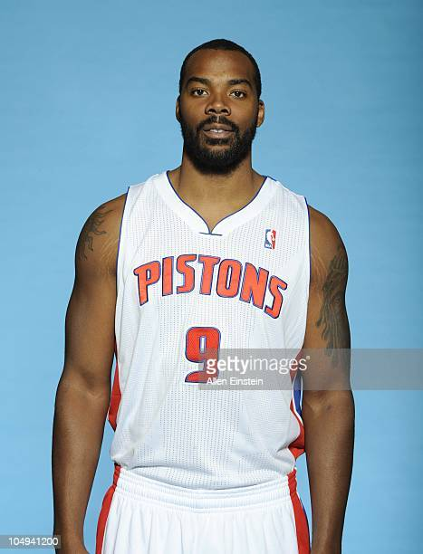 Chris Wilcox of the Detroit Pistons poses during media day at the Piston's practice site on September 27 2010 in Auburn Hills Michigan NOTE TO USER...