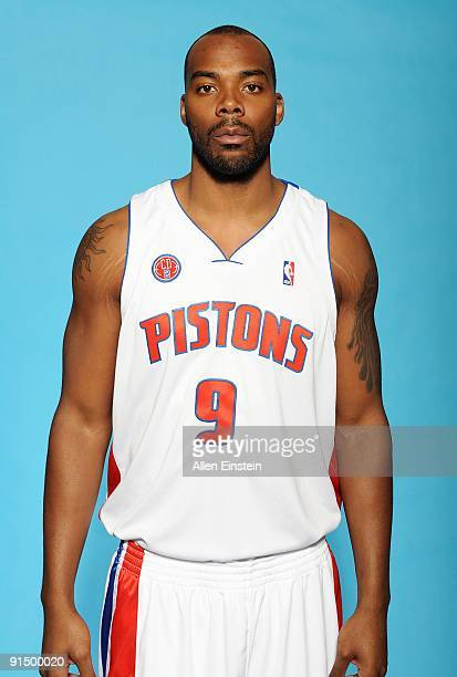 Chris Wilcox of the Detroit Pistons poses for a portrait during 2009 NBA Media Day on September 28 2009 at The Palace of Auburn Hills in Auburn Hills...