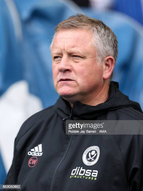 Chris Wilder head coach / manager of Sheffield United during the Sky Bet Championship match between Sheffield Wednesday and Sheffield United at...