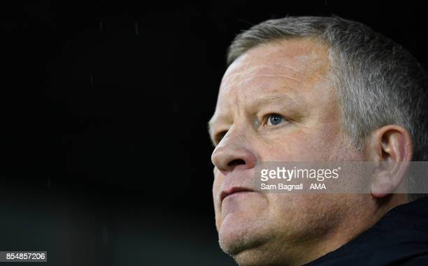 Chris Wilder manager / head coach of Sheffield United during the Sky Bet Championship match between Sheffield United and Wolverhampton at Bramall...
