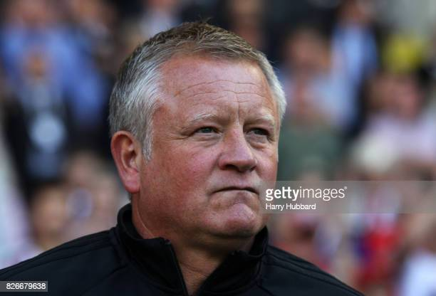 Chris Wilder manager of Sheffield United before the Sky Bet Championship match between Sheffield United and Brentford at Bramall Lane on August 5...