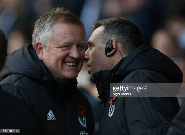Chris Wilder manager of Sheffield United during the Sky Bet Championship match between Sheffield United and Hull City at Bramall Lane on November 4...