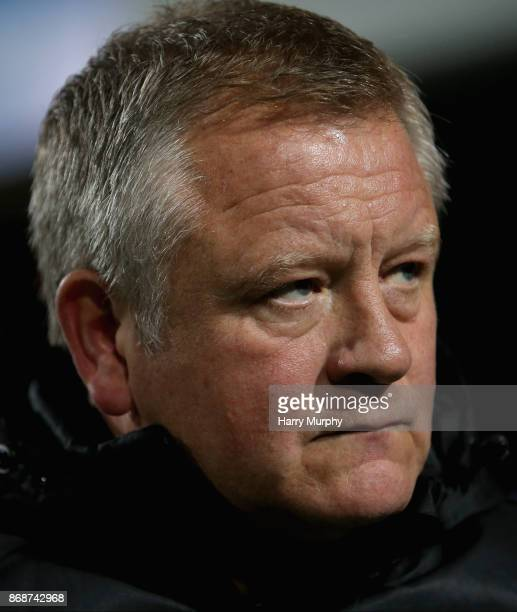 Chris Wilder Manager of Sheffield United looks on prior to the Sky Bet Championship match between Queens Park Rangers and Sheffield United at Loftus...