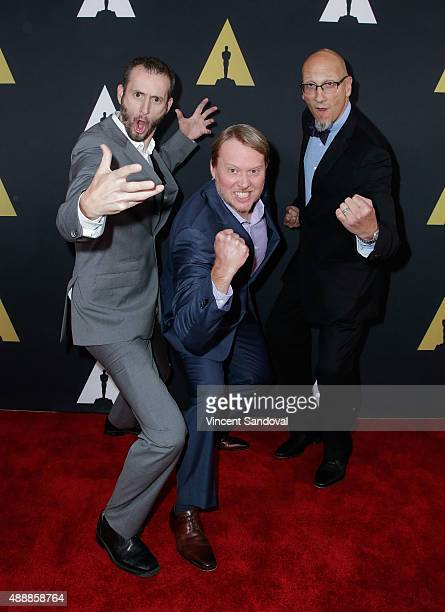 Chris Williams Don Hall and Roy Conli attend The Academy of Motion Picture Arts and Sciences 42nd Student Academy Awards at AMPAS Samuel Goldwyn...