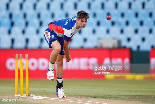 Chris Woakes of England bowls during England media acces at SuperSport Park on January 21 2016 in Centurion South Africa