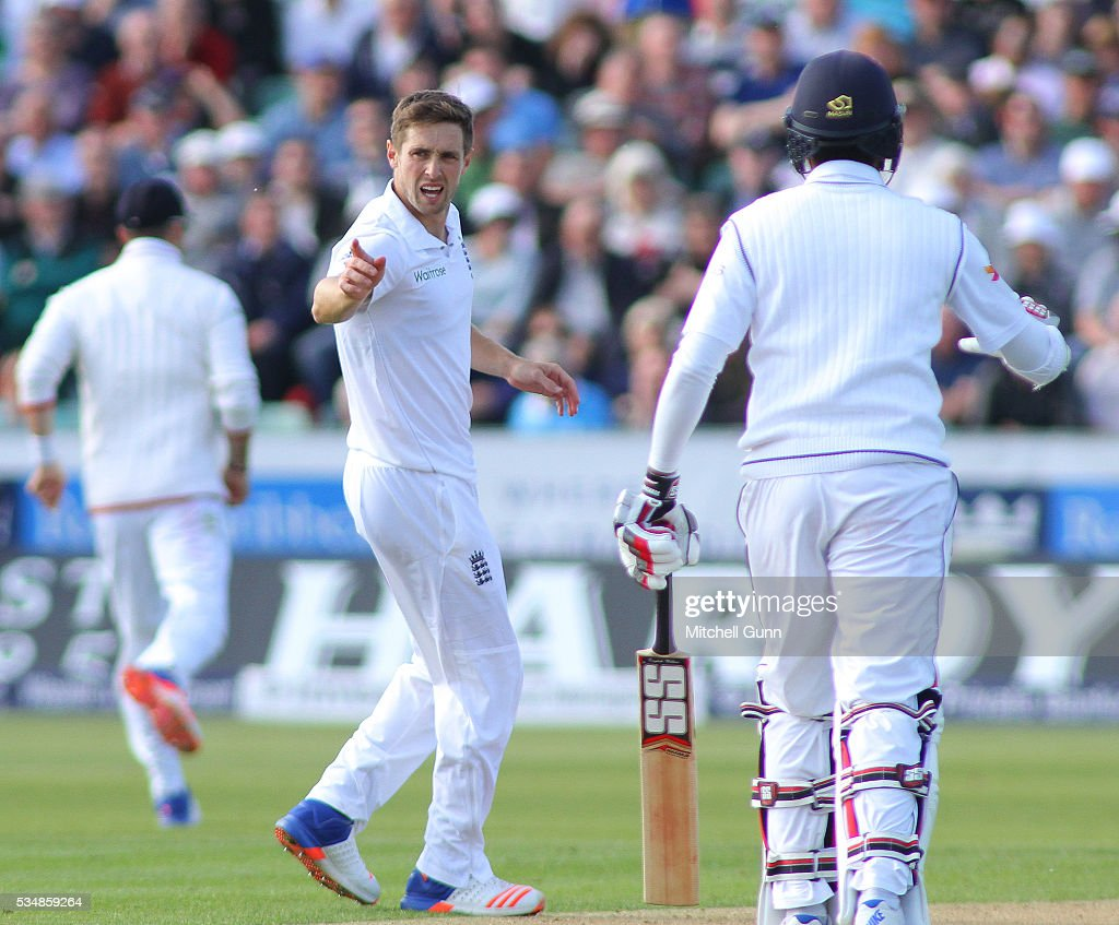 <a gi-track='captionPersonalityLinkClicked' href=/galleries/search?phrase=Chris+Woakes&family=editorial&specificpeople=4444585 ng-click='$event.stopPropagation()'>Chris Woakes</a> of England makes an unsuccessful appeal for a wicket during day two of the 2nd Investec Test match between England and Sri Lanka at Emirates Durham ICG on May 28, 2016 in Chester-le-Street, United Kingdom.
