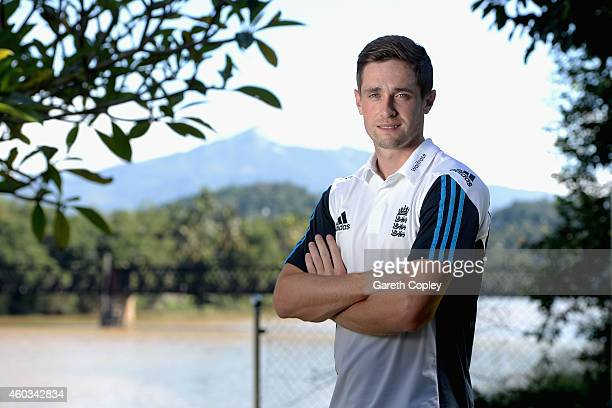 Chris Woakes of England poses for a portrait after a press conference at the team hotel on December 12 2014 in Kandy Sri Lanka