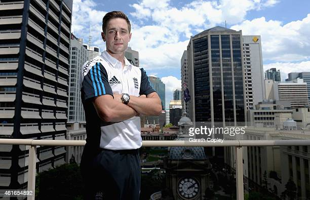 Chris Woakes of England poses for a portrait after a press conference at the team hotel on January 17 2015 in Brisbane Australia
