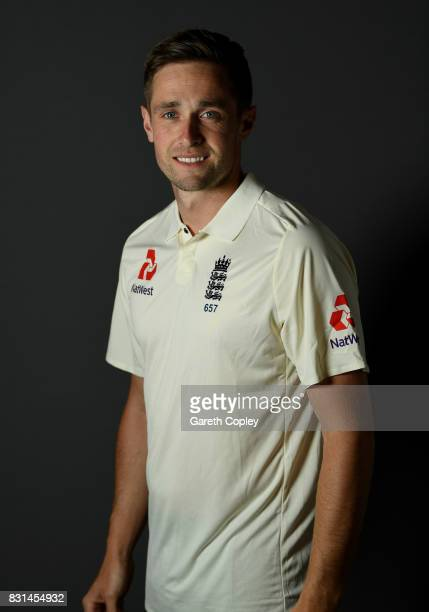 Chris Woakes of England poses for a portrait at Edgbaston on August 14 2017 in Birmingham England